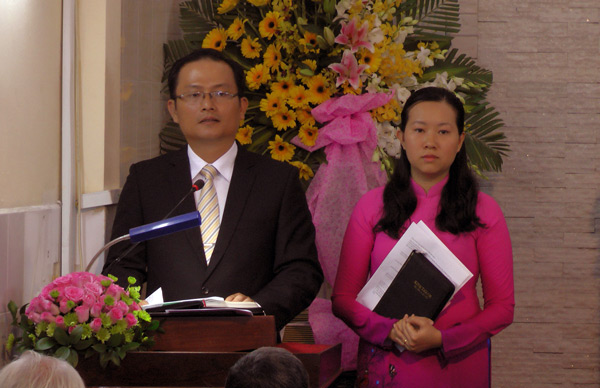 TĐ Trần Huỳnh Quốc Việt - Tân Quản nhiệm bày tỏ tâm chí