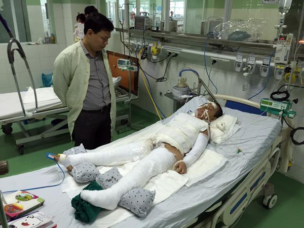 Cháu Phước Ân tại Bệnh viện Phụ sản - Nhi Đà Nẵng