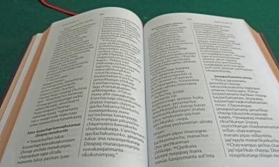 Đoạn Kinh Thánh quen thuộc Giăng 3 trong ngôn ngữ Aymara của người dân vùng Chuma.