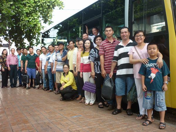Ban Truyền giảng tỉnh An Giang trước giờ xuất phát