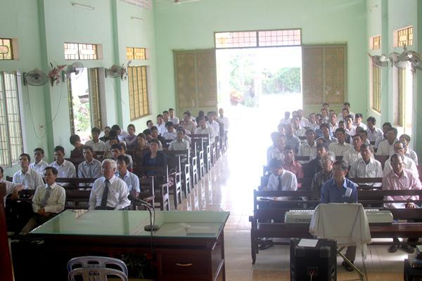 Quang cảnh khóa huấn luyện truyền giáo tỉnh Quảng Ngãi.
