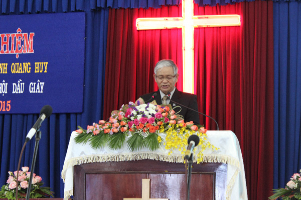 MS Đặng Châu Ngọc, Ủy viên BĐD, cầu nguyện khai lễ
