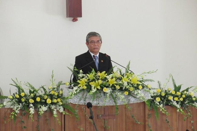MS Nguyễn Văn Ngọc - Phó Tổng Thủ quỹ TLH giảng trao trách nhiệm