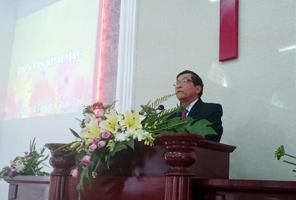 MS Nguyễn Văn Thể - đọc diễn văn khai mạc