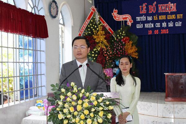 TĐ Hà Minh Quang Huy - Tân Quản nhiệm - bày tỏ tâm chí.