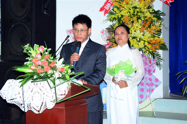 Tân Quản nhiệm - MSNC Huỳnh Ngọc Dũng bày tỏ tâm chí