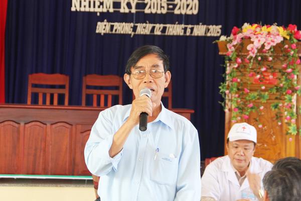 Ông Võ Hồng Binh, Chủ tịch Hội Từ thiện Quảng Nam phát biểu ý kiến