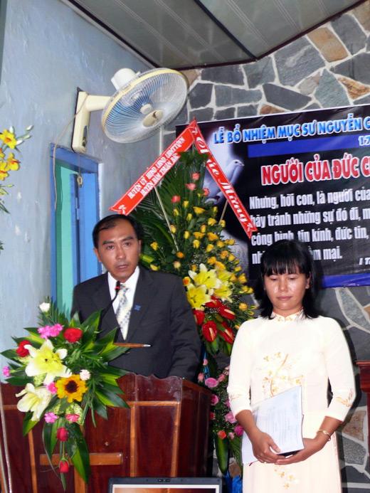 MS Nguyễn Công Nhựt - Tân Quản nhiệm - bày tỏ tâm chí