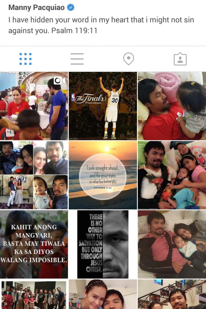 Trên mạng xã hội, anh chia sẻ rất nhiều câu gốc, hình ảnh gia đình và các công việc Chúa anh dự phần.