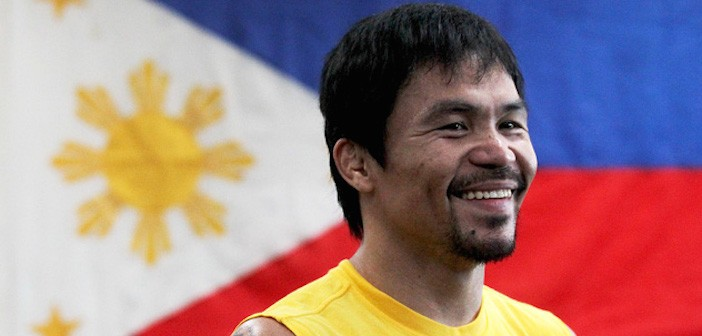 Manny Pacquiao Trains In Los Angles