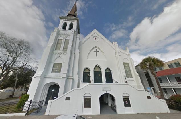 Nhà thờ Emanuel E.M.A Church - nơi diễn ra vụ xả súng kinh hoàng cướp đi mạng sống của 9 người da đen.