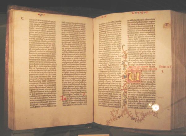 Gutenberg là cuốn Kinh Thánh bản in đầu tiên trên thế giới.