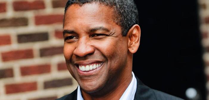 "Denzel Washington Visits ""Late Show With David Letterman"""