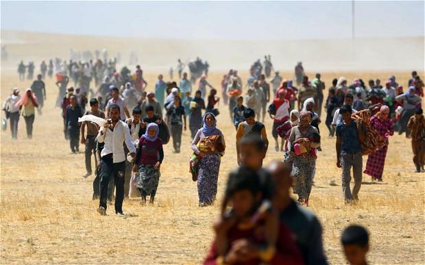 Lượng người tị nạn ngày càng tăng đang là vấn đề nan giải cho các quốc gia Trung Đông.