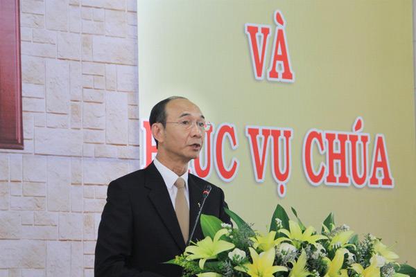 MS Nguyễn Hữu Bình – Phó Hội trưởng II - giảng Lời Chúa