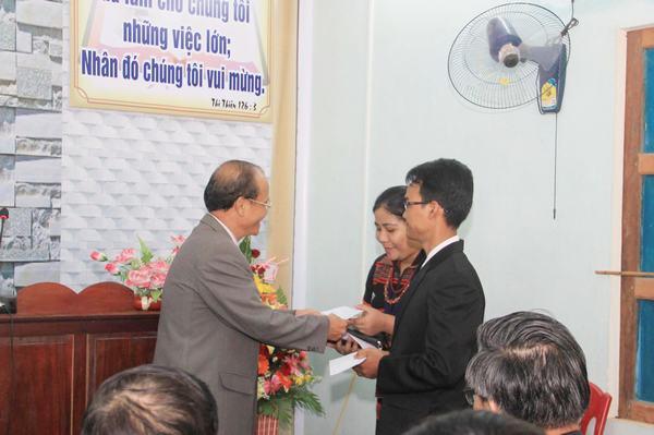 MS Trần Đình chúc mừng TĐ Kỳ Xuân Ninh