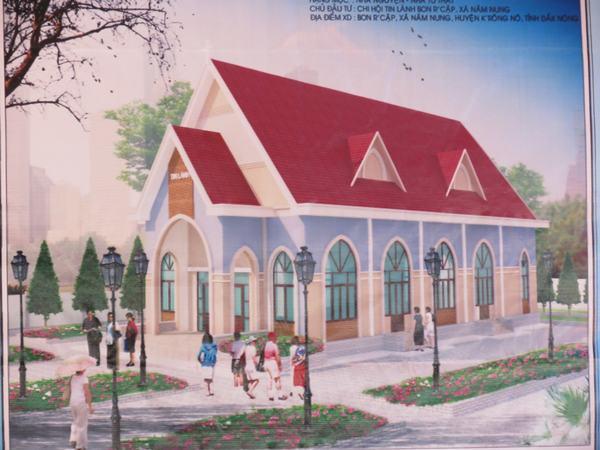 Mô hình nhà thờ mới.