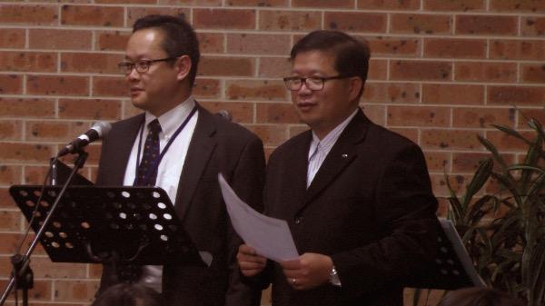 Thầy Nguyễn Phan Thi, Thư ký BTC thông báo chương trình và nội quy.