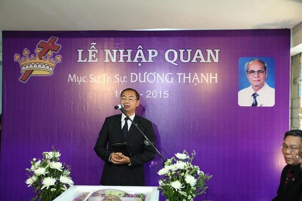 MSNC Nguyễn Hải Bằng, Ủy viên Ban Đại Diện Tin Lành TP Đà Nẵng, hướng dẫn chương trình Lễ nhập quan.