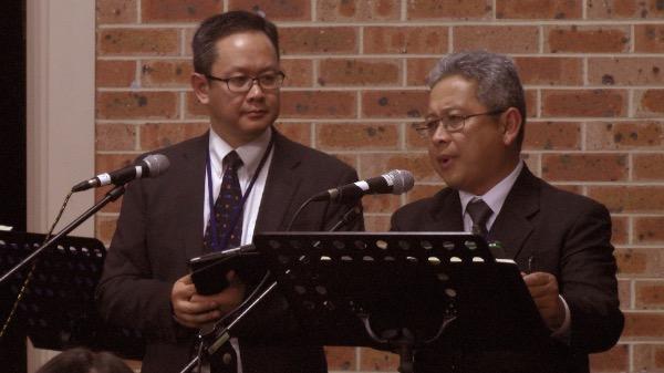 Mục sư Đoàn Hưng Linh - Diễn giả chính, Mục sư Đoàn Hưng Khôi - Chuyển ngữ.
