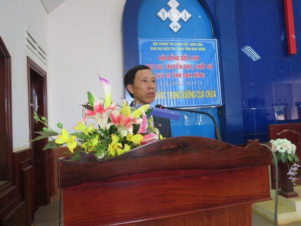 MSNC Hầu Văn Lầu hướng dẫn chương trình bồi linh.