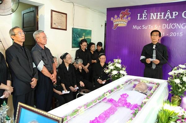 MSNC Dương Quang Nhơn đại diện tang quyến tri ân.
