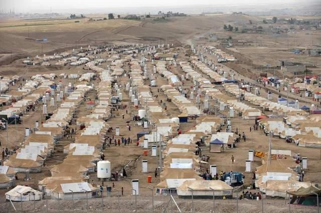 Một khu dành cho người tị nạn tại Erbil, Iraq.