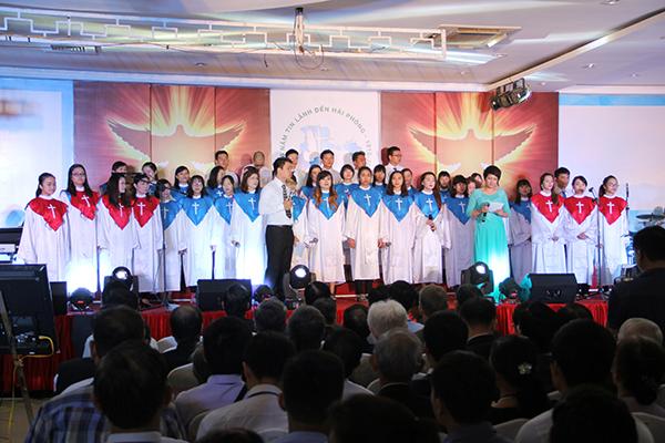 Chương trình có sự góp sức của con dân Chúa từ 22 Hội Thánh các hệ phái trong khu vực Hải Phòng.
