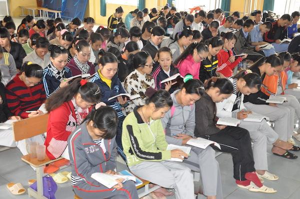 Lớp học phục hồi tại Trung tâm giáo dục lao động Xã hội 02.