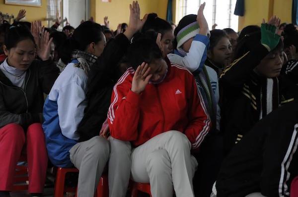 Học viên Thung tâm giáo dục lao động xã hội 02.