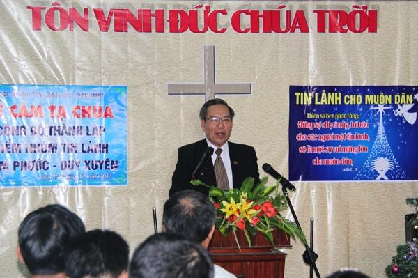 Mục sư Võ Đình Đán, Ủy Viên Tổng Liên Hội giảng Sứ điệp Giáng Sinh.