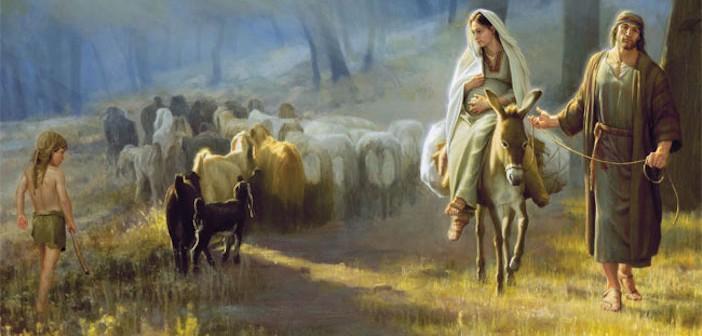 pregnant-marry-on-donkey-and-joseph-travel-to-judia