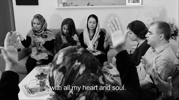 Một điểm nhóm tư gia tại Iran.