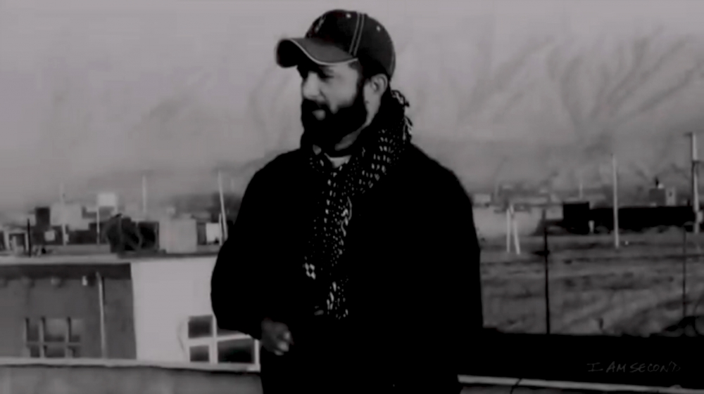 Chad Robichaux thời còn tại ngũ ở Afghanistan.