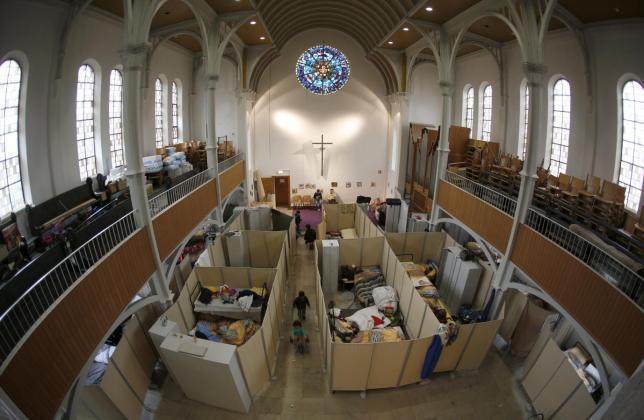 Một nhà thờ tại Oberhausen, Đức từng được nhiều người biết đến khi nhiệt tình giúp đỡ người tị nạn.