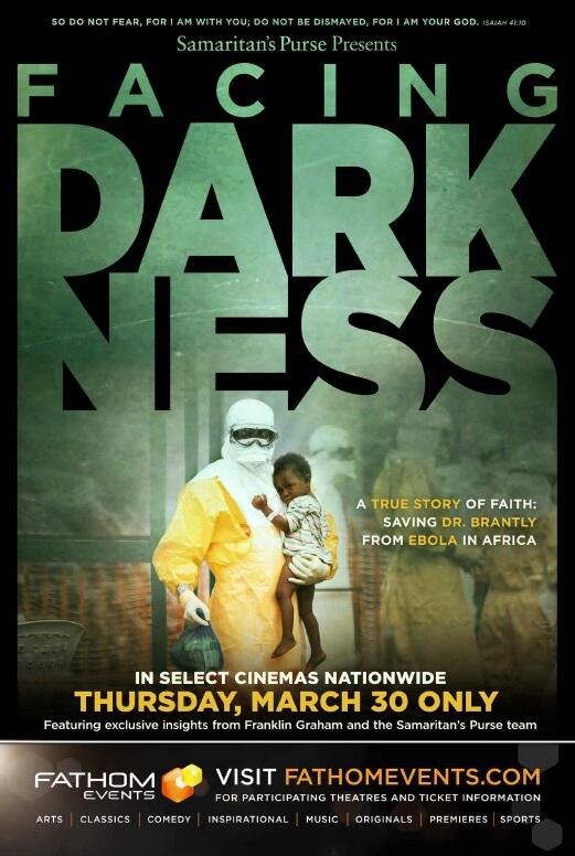 "Poster phim ""Facing Darkness""."
